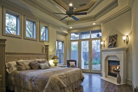 欧式风格别墅主卧室装修效果图