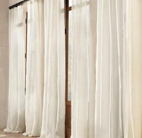 客厅白色窗帘图片
