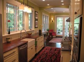 美式开房式厨房装修效果图大全