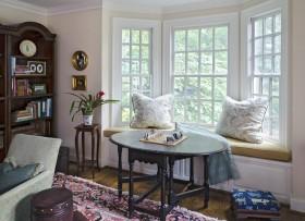 飘窗改书桌装修图片  欧式书房飘窗效果图