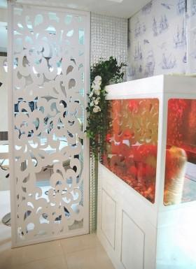 室内雕花屏风装修效果图欣赏