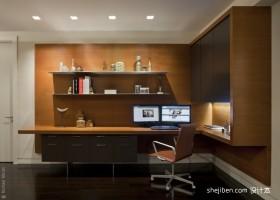 两室一厅90平装修书房设计