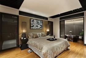 中式卧室装修效果图  现代中式卧室装修设计图片