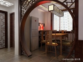 家装餐厅中式门窗装修效果图