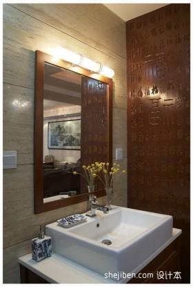 中式小面积卫生间装修效果图  中式装修效果图大全2012图片