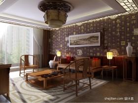 中式客厅家具摆放效果图