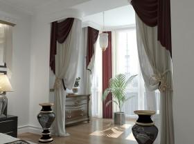 欧式阳台窗帘图片  2013最新窗帘装修效果图