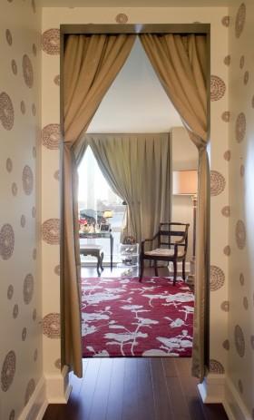 客厅过道窗帘布艺图