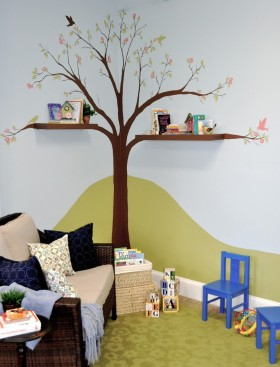 小户型儿童房背景墙装修效果图