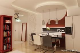 90平米两室两厅餐厅装修效果图  2012餐厅吊顶装修效果图