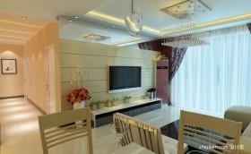 2012最新两室一厅客厅吊顶装修效果图