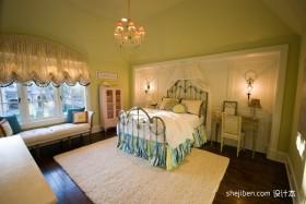 2012最新两室一厅卧室吊顶装修效果图  卧室飘窗装修效果图
