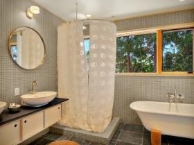 卫生间窗帘装修效果图  卫生间装修效果图大全