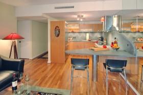 现代家装开放式厨房装修效果图