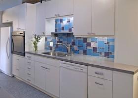 地中海风格一字型厨房装修效果图