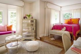 欧式简约主卧室装修效果图大全 欧式卧室飘窗装修设计图片