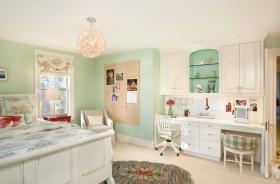 欧式简约主卧室装修效果图大全 卧室书桌装饰设计图片