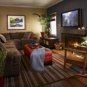 美式风格家居电视背景墙装修效果图