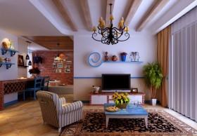 田园客厅装修效果图 客厅背景墙效果图