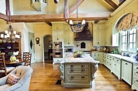 欧式别墅开放式厨房装修效果图大全