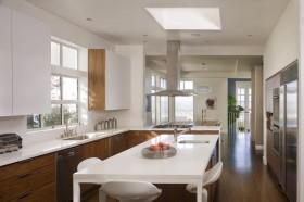 开放式厨房效果图 厨房橱柜效果图