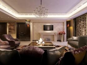 欧式风格大客厅装修效果图