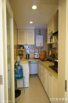 现代小厨房整体装修效果图