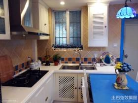 地中海风格小厨房效果图欣赏
