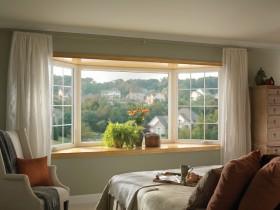 卧室飘窗窗帘装修效果图