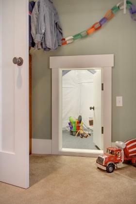 隐形门设计 儿童房隐形门效果图