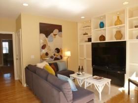 小客厅收纳电视柜背景墙效果图