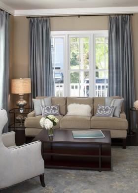 现代风格客厅窗帘效果图