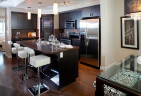 美式实木厨房装修效果图大全