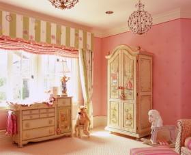 田园儿童房粉色图片
