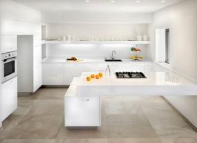 简约厨房装修效果图 纯白色厨房
