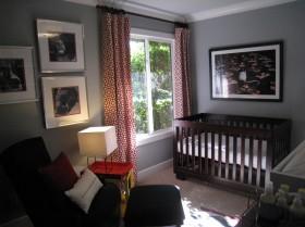 现代简约儿童房窗帘图片大全