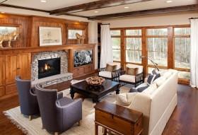 美式客厅装修图片