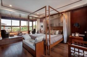 东南亚风格别墅卧室效果图片