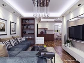 现代小户型客厅电视背景墙装修效果图