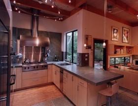 开放式厨房吧台装修设计图片