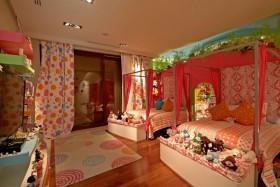 暖色调双人儿童房装修效果图大全2012图片