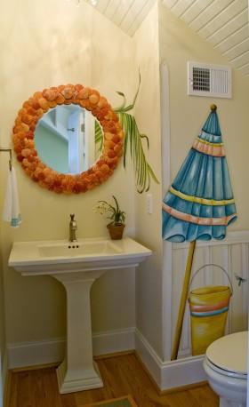 小户型卫生间背景墙装修效果图