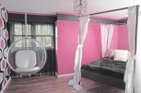 现代卧室装修背景墙颜色效果图