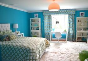 欧式简约主卧室颜色装修效果图