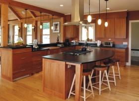 美式别墅开放式厨房设计效果图