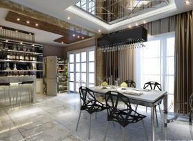 餐厅酒柜效果图 现代餐厅吊顶效果图