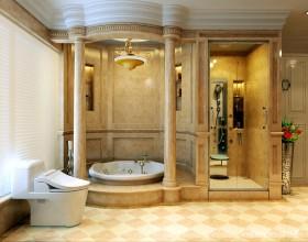 欧式豪华别墅卫生间装修效果图