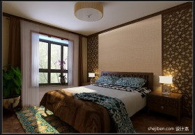 现代中式风格卧室装修设计