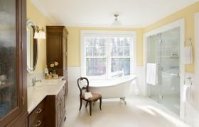 100平方两室两厅卫生间装修效果图