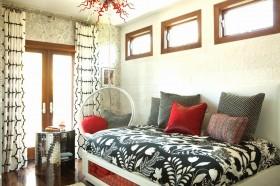 欧式简约卧室窗帘装修